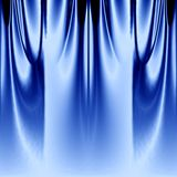 蓝色窗帘 库存图片