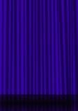 蓝色窗帘 免版税库存照片