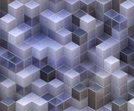蓝色立方体 免版税图库摄影