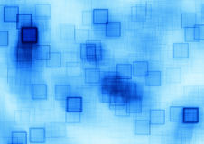 蓝色立方体 库存图片