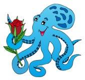 蓝色章鱼上升了 库存照片