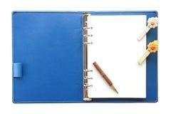 蓝色笔记本 免版税库存照片