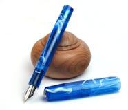 蓝色笔 免版税库存照片