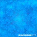 蓝色简单的圈子形状现代几何抽象背景 免版税库存照片