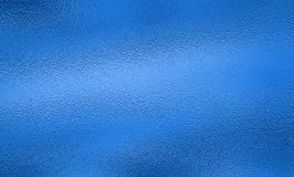 蓝色箔纹理背景 免版税库存照片