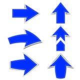 蓝色箭头表示在白色的一个阴影 皇族释放例证