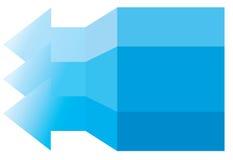 蓝色箭头。 免版税库存图片