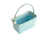 蓝色篮子 免版税库存图片