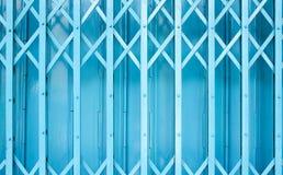 蓝色篱芭样式 免版税库存照片