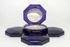蓝色粉末箱子的金字塔 免版税库存图片