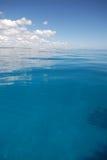 蓝色精采热带水 库存照片