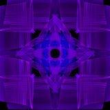 蓝色紫色正方形 库存例证