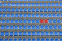 蓝色红色位子 免版税库存照片