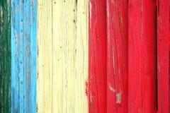 蓝色红色和白色风化了板条posst背景 免版税库存图片