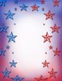 蓝色红色星形 免版税库存照片