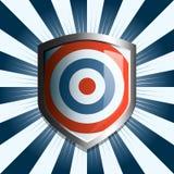 蓝色红色盾目标白色 库存照片