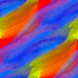 绘蓝色红色黄色的水彩纹理 库存图片