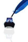 蓝色纤管 免版税库存照片