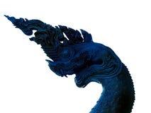 蓝色纳卡人雕象 库存照片