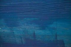 蓝色纹理木头 藏青色木头背景 蓝色木纹理和背景特写镜头视图  免版税库存照片