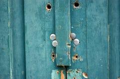 蓝色纹理木头 库存图片