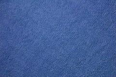 蓝色纹理毛巾 免版税库存照片