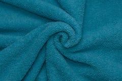 蓝色纹理毛巾 图库摄影