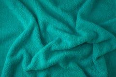 蓝色纹理毛巾 免版税库存图片