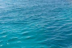 蓝色纹理水 免版税库存图片