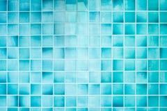 蓝色纹理瓦片 免版税库存照片