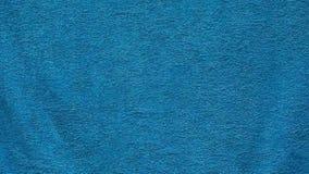 蓝色纺织品毛巾风背景没人hd英尺长度 股票视频
