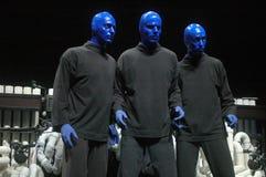 蓝色组人 免版税库存图片