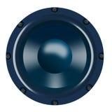 蓝色细微差异低音扬声器 库存照片
