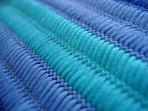 蓝色织品口气 库存图片