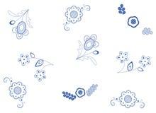 蓝色织品模式 库存图片