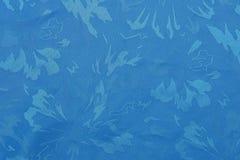 蓝色织品纹理 免版税库存图片