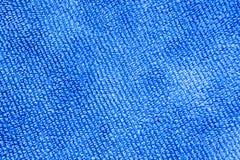 蓝色织品背景的纹理 免版税库存照片