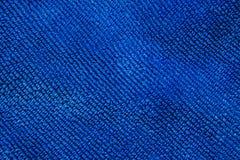 蓝色织品背景的纹理 库存图片