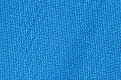 蓝色织品背景纹理 纺织材料特写镜头细节  库存照片