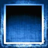 蓝色织品grunge 免版税库存图片