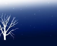 蓝色结构树 库存例证