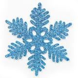 蓝色结霜的雪花 皇族释放例证