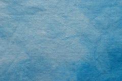 蓝色绘了艺术性的背景纹理 免版税库存照片