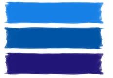 蓝色绘画的技巧 免版税库存照片