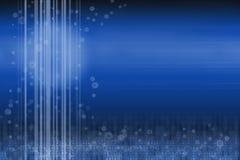 蓝色继续的设计数字式未来派空间 向量例证