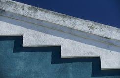 蓝色绿松石白色 库存图片