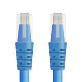 蓝色缆绳纸裁减以太网、互联网或者lan锂的 免版税库存图片