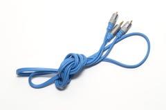 蓝色缆绳 库存照片