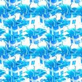 蓝色缎带包装无缝的纹理背景模式 免版税库存图片