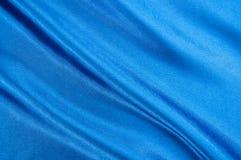 蓝色缎纹理 免版税库存图片